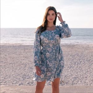 Gal Meets Glam Madeline Floral Button Down Dress